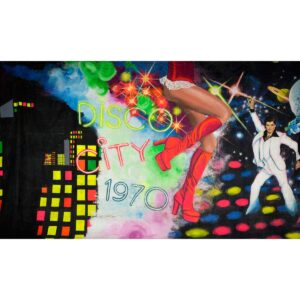 Disco City 1970 Painted Backdrop BD-1000