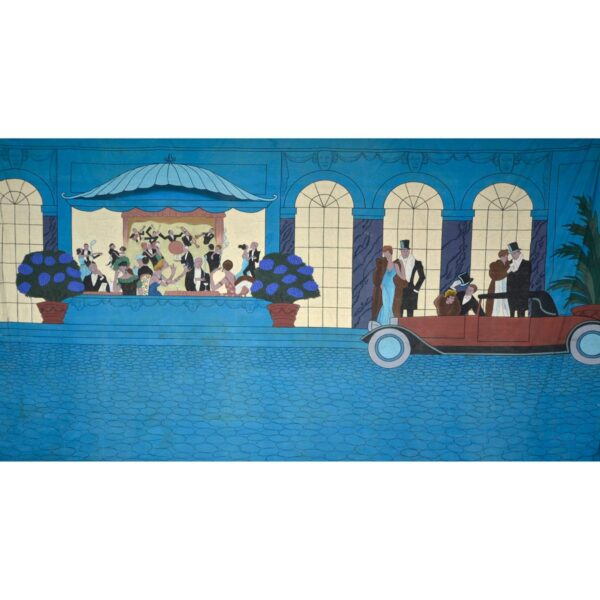 Roaring 20s Arrival at Party Painted Backdrop BD-1762