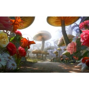 Alice in Wonderland Mushroom Garden Painted Backdrop BD-0062