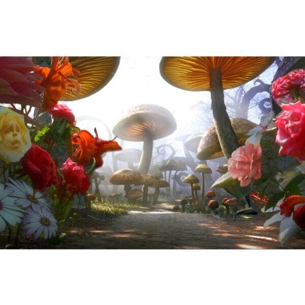 Alice in Wonderland Mushroom Garden Painted Backdrop BD-0062