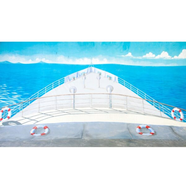Cruise Ship Bow Painted Backdrop BD-172-0