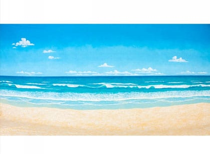 The Perfect Beach Painted Backdrop BD-0027