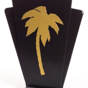 Black Bandstand with Gold Palm Motif - Sydney Prop Specialsts - Prop Hire and Event Theming