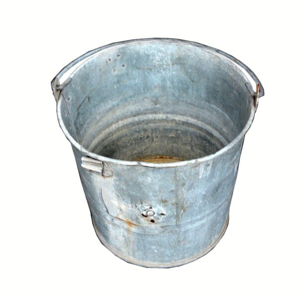 Rustic Metal Bucket-0