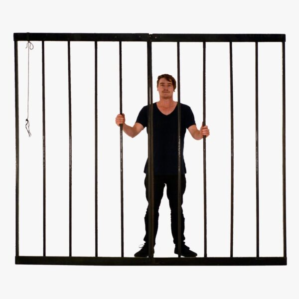 Cage or Jail Bars - 2 Pieces-0