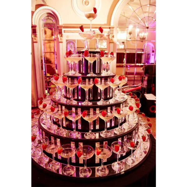 Champagne Glass Tower / Pyramid at event