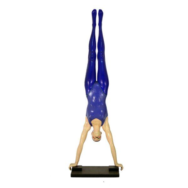 Circus Acrobat Doing Handstand