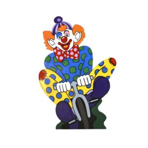 Cutout - Clown on Bike