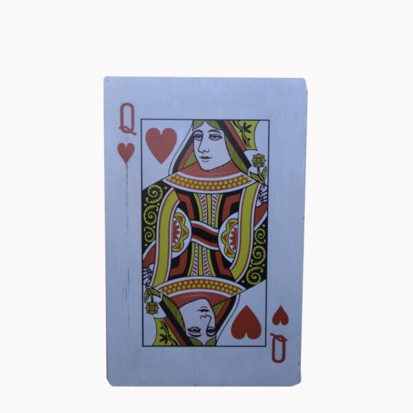 Cutout - Queen of Hearts Playing Card