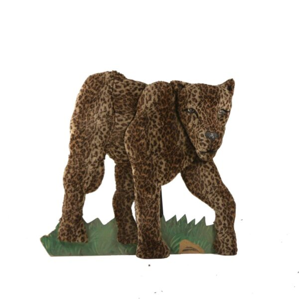 Cutout - Leopard with Fur Facing Right