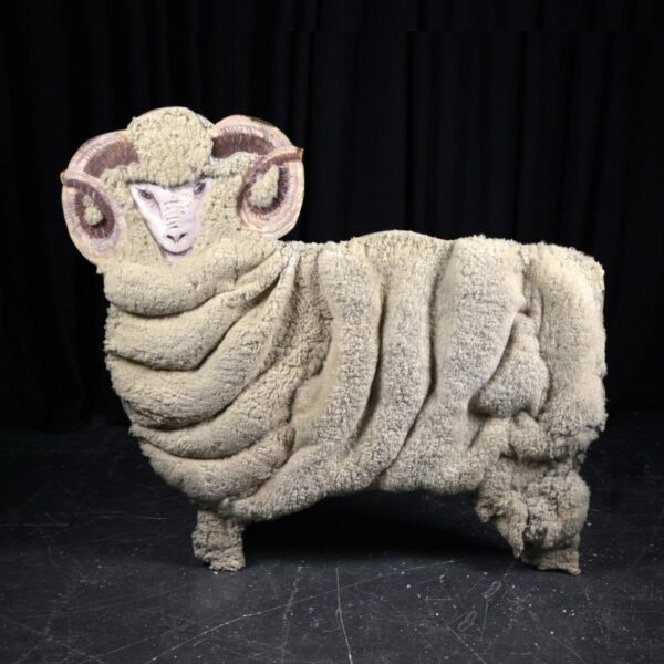 Cutout - Ram with Wool Facing Left