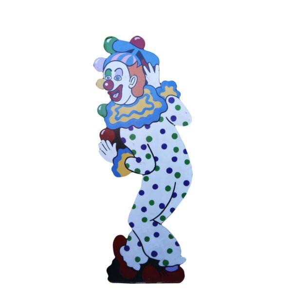 Cutout - Juggling Clown in Polka Dot Costume