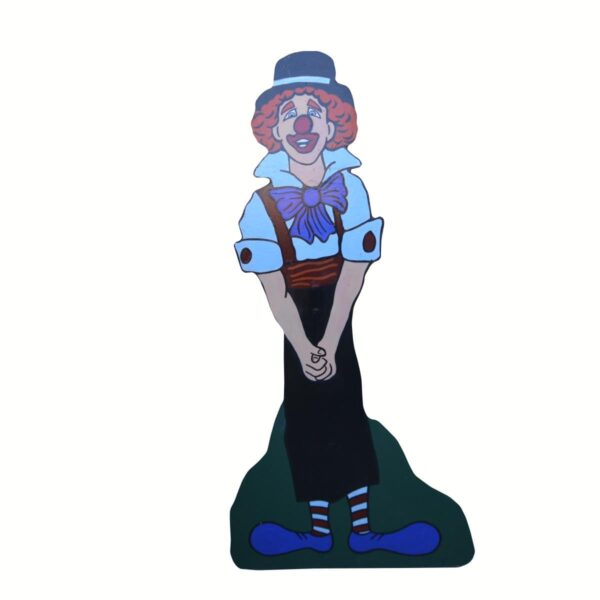 Cutout - Clown with Bow Tie and Blue Shoes