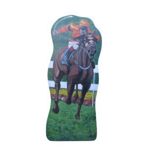 Cutout - Horse Racing with Orange Jockey
