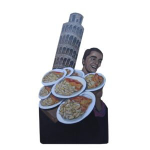 Cutout - Pizza Guy with Leaning Tower
