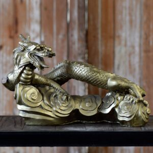 Gold Chinese Dragon Statue