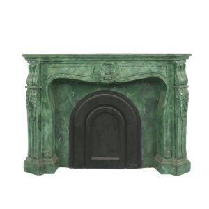 Green Marble Fireplace for hire - sydney props