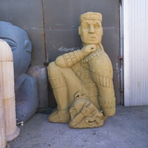 Large Aztec Inca Statue - Side Sitting for hire - sydney props