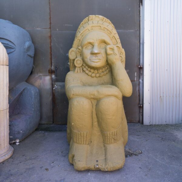 Large Aztec Inca Statue - Sitting for hire - sydney props
