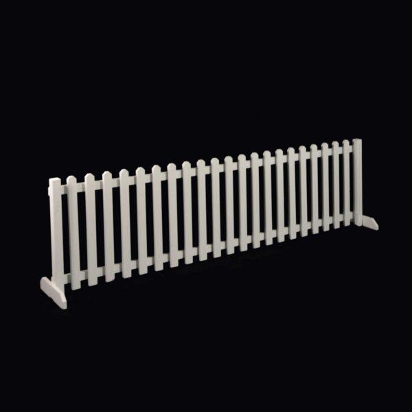 Medium White Picket Fence