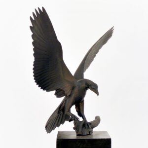 eagle on plinth