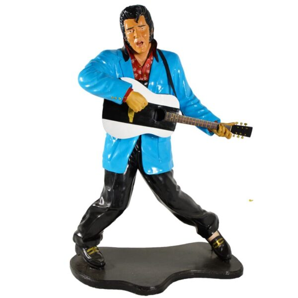 Elvis Statue with Guitar