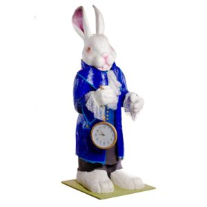 Giant Bunny Holding Pocket Watch - Sydney Prop Specialists - Prop Hire and Event Theming