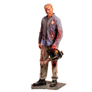 Life Size Horror Character With Chainsaw - Male-0