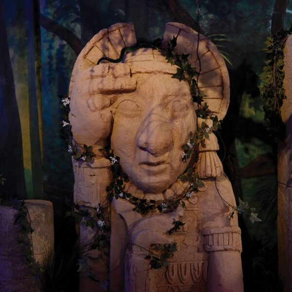 Large Aztec Inca Face with Crown for hire - sydney props
