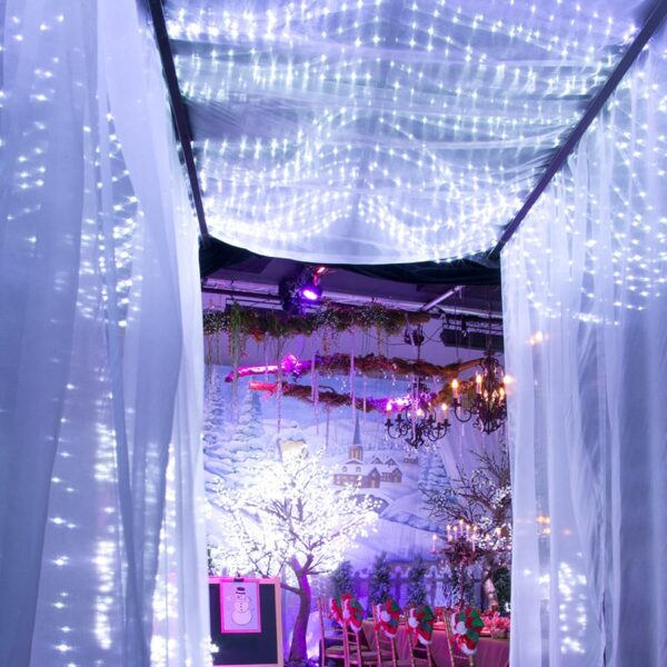 Entrance Tunnel Frame with LED and White Chiffon (extra)