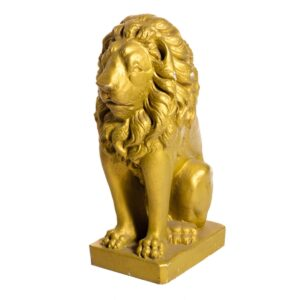Gold Lion Sitting Statue