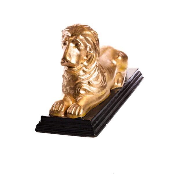 Gold Lion Lying Statue