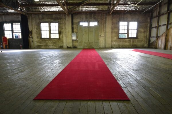 Red Carpet in our Warehouse studio