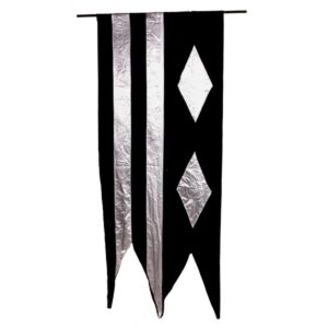 Black and Silver Medieval Banner-0