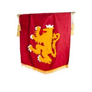 Medieval Rampant Lion Banner-0
