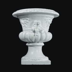 English Flower Urn with Cherub