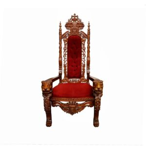 Throne 7- Ornate Red Cushion Throne - Sydney Prop Specialists - Prop Hire and Event Theming