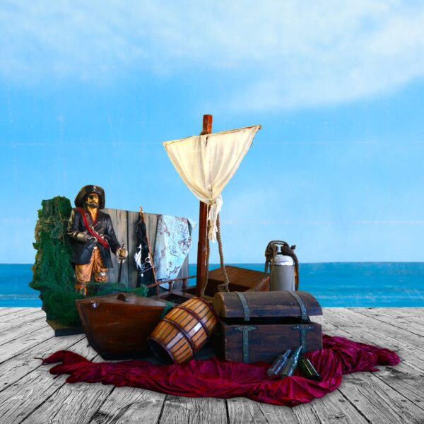 Pirate Ship with Sail plus assorted props