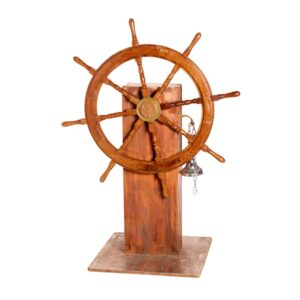 Ships Wheel with Bell-0