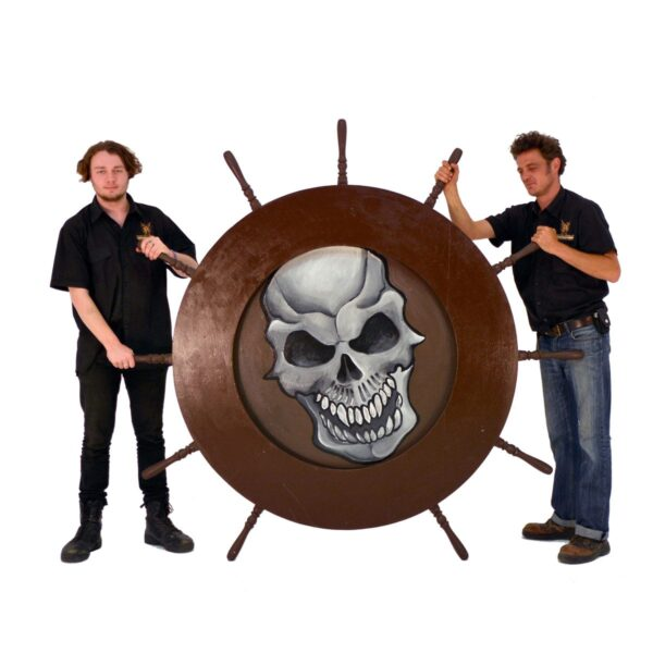 Ship's Wheel with Skull Decal