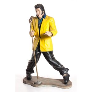Life Size Elvis with Microphone