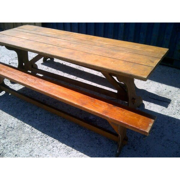Rustic Timber Table and Bench Seats