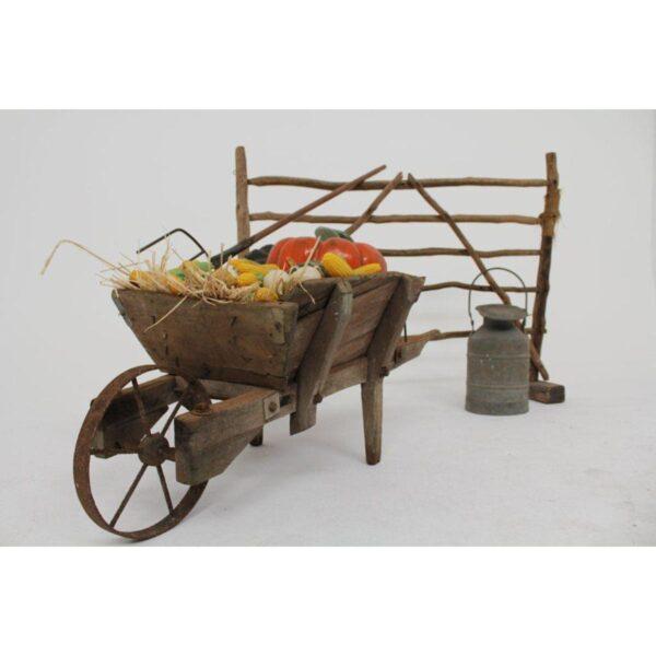 Rustic Wooden Wheelbarrow - Type A
