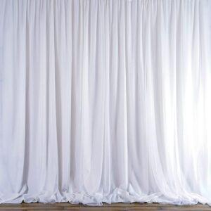White Chiffon Drape-0