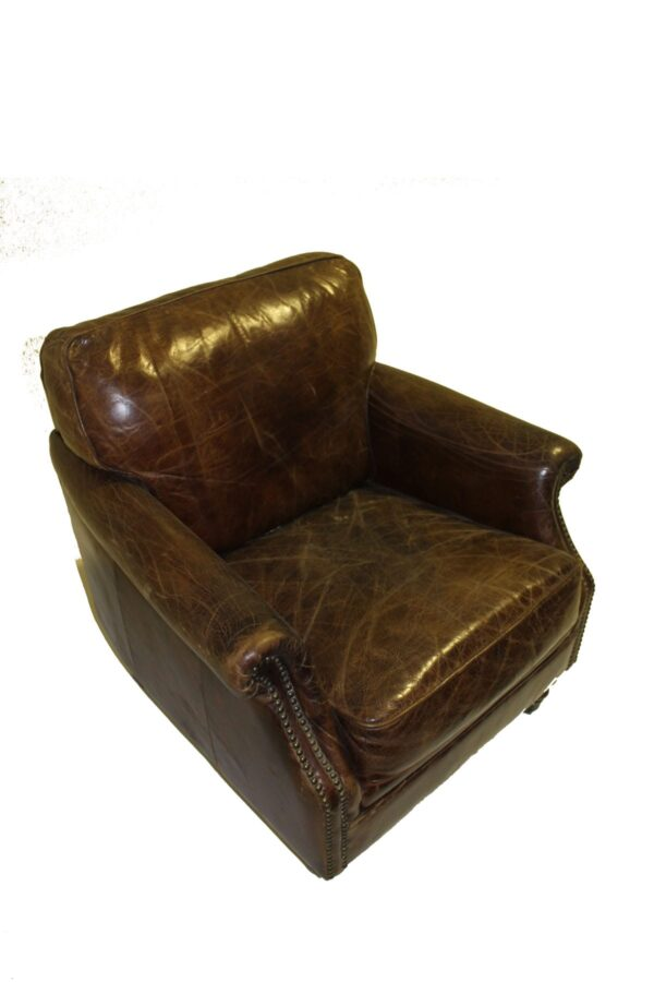 Leather Winchester Armchair-11053
