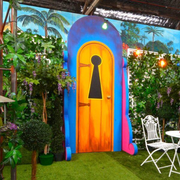 Magical Fantasy Garden Door with Keyhole
