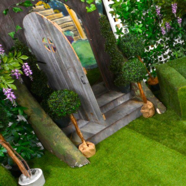 Enchanted Garden Door - Sydney Prop Specialists - Prop Hire and Event Theming