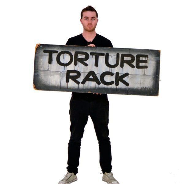 Torture Rack Horror or Halloween sign