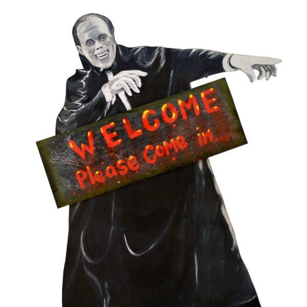 Horror or Halloween cutout with Sign