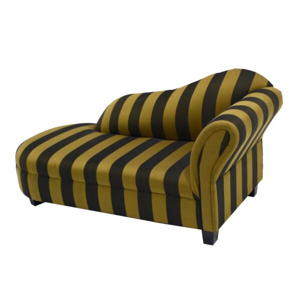 Black and Gold Striped Chaise Lounge-11571